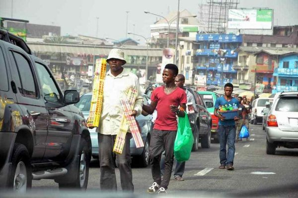 Nigeria youths hawking in the streets to survive